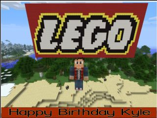 Admirable A4 Lego Minecraft Edible Icing Or Wafer Birthday Cake Topper Funny Birthday Cards Online Overcheapnameinfo
